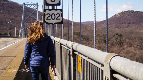 Take a day to walk across the Bear Mountain Bridge, or Purple Heart bridge in the Hudson Valley. From here you can see Boscoe Bell, the valley from above, and experience a good workout.