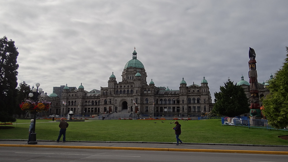 Victoria Parliament in British Columbia. Enjoy the beautiful gardens.