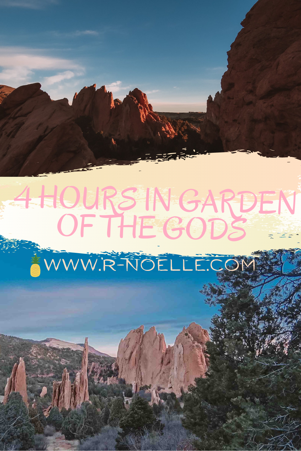 Here is a guide for having a limited time for visiting the Garden of the Gods. This hidden treasure in Colorado Springs, Colorado. I recommend going for sunrise to this free park.