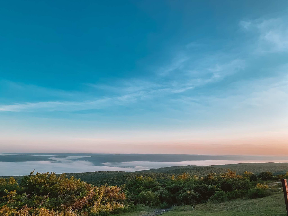 Sunrise hikes are the best. High Point Monument has the best sunrise view in New Jersey.