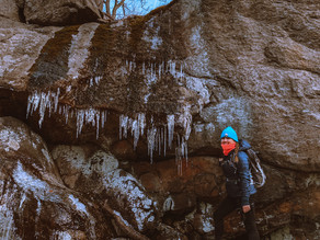 Winter Hike in Harriman State Park, Claudius Smith's Den Loop