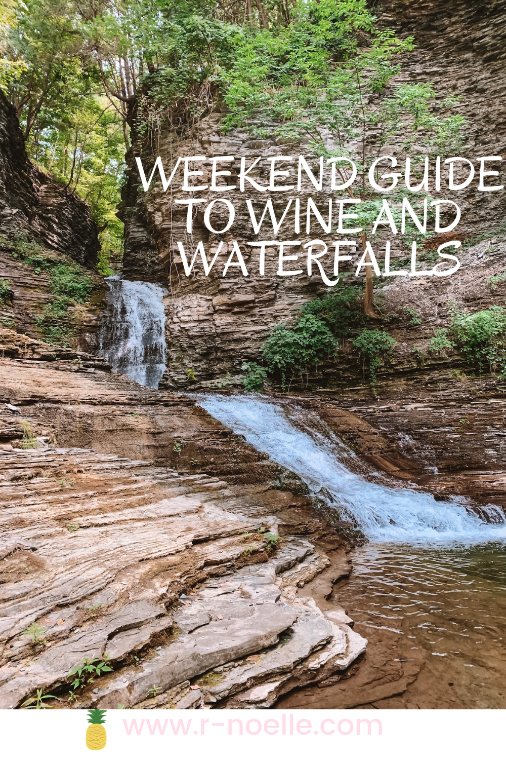 Not everyone would think that a weekend to wineries would include camping at a campsite. The campsite for the remainder of the weekend fueled the adventure site of finding waterfalls not just in Watkins Glen State Park, but in the surrounding areas. If you're looking for things to do in Watkins Glen, it is endless. The other waterfalls allow you to swim and do more exploring. Always swim and keep exploring!