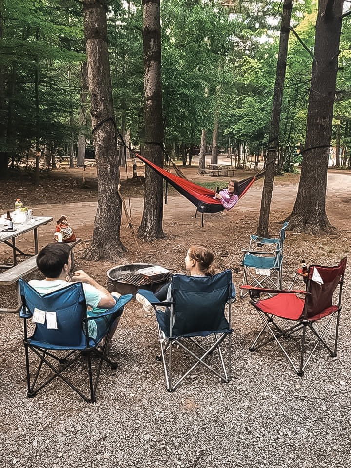 Eno hammocks and camping chairs are a must for camping gear for a weekend camping trip!