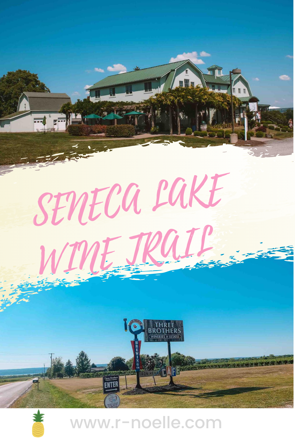 Seneca Lake is the deepest lake in the Finger Lakes. This is part of the Finger Lake region in New York. Three Brothers Wineries & Estates and Fox Run Winery are amazing wineries. The vineyard are stunning!