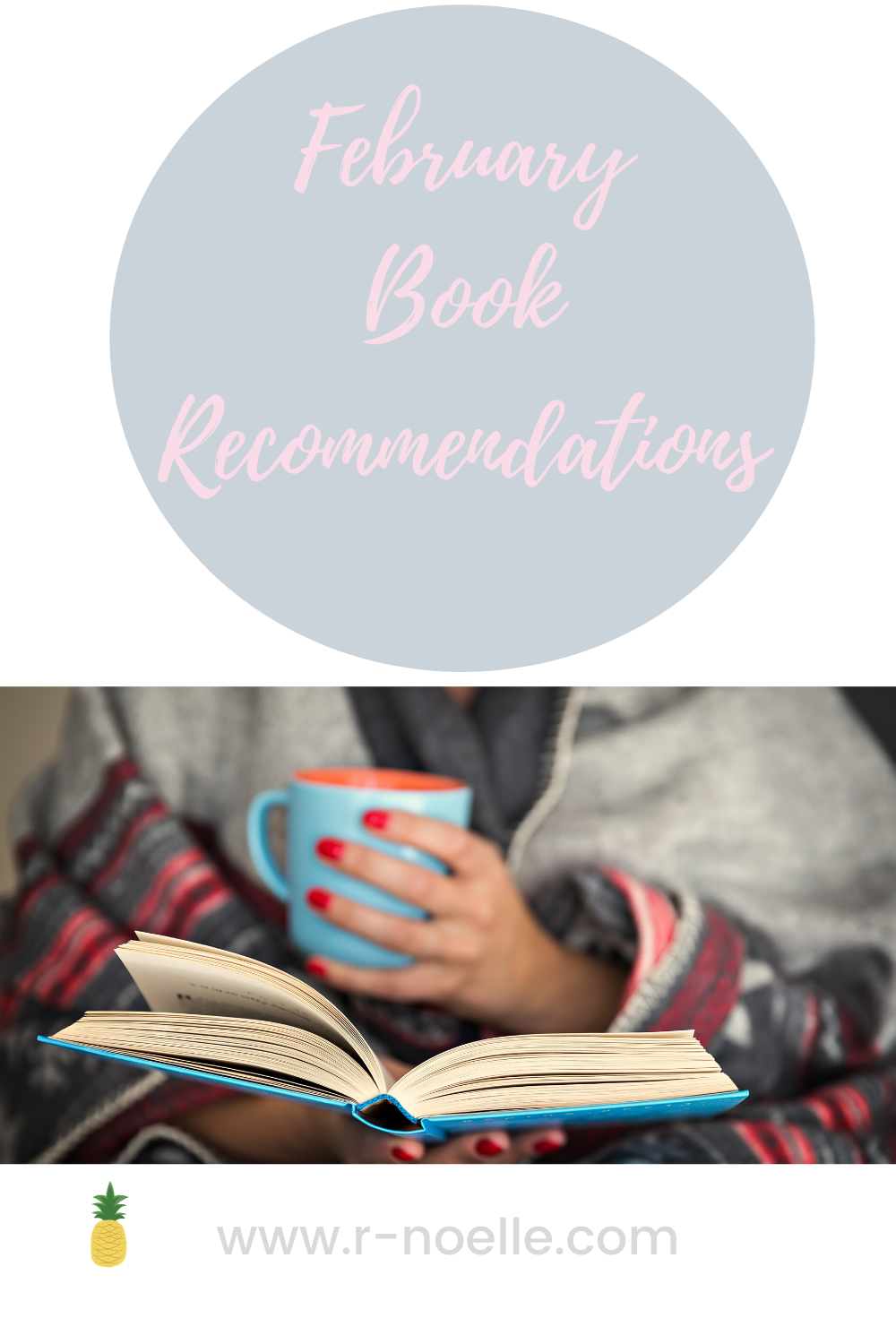 Pinterest pin for 2020 February book recommendations.