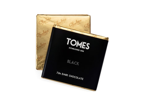 30g Tomes Black 72% Dark Chocolate