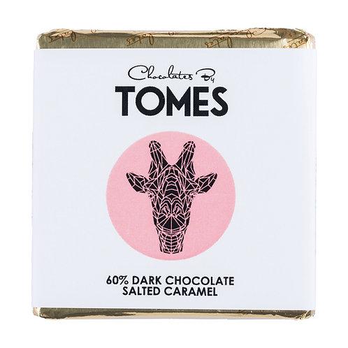 30g Tomes Safari Giraffe (60% Dark Chocolate Salted Caramel)