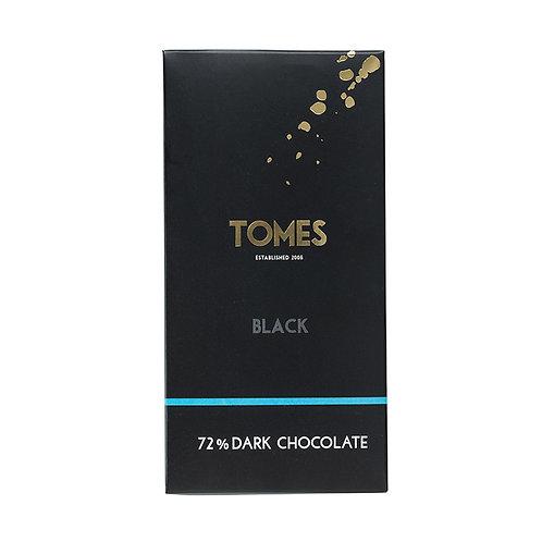 80g Tomes Black 72% Dark Chocolate