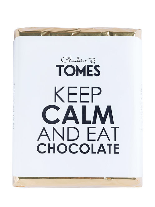 "2kg 42% Milk Chocolate Slab ""Keep Calm and Eat Chocolate"""