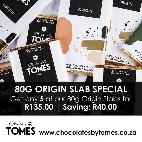 80g Origin slab special (Select any 5 Origin slabs)