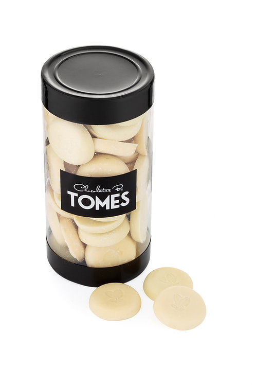 200g White Chocolate Buttons (34% cocoa butter)