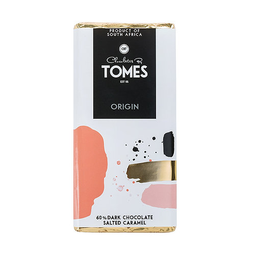 80g Tomes Origin 60% Dark Chocolate Salted Caramel