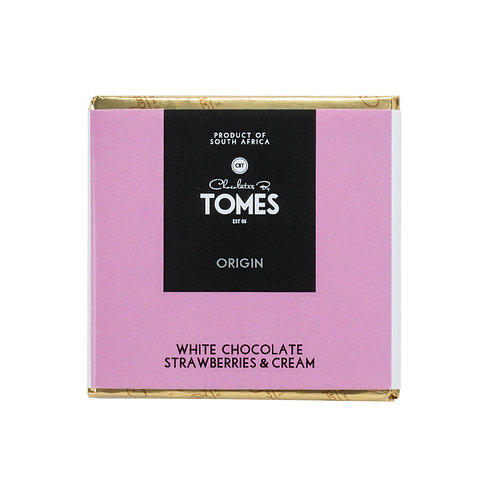 30g Tomes Origin White Chocolate Strawberries & Cream