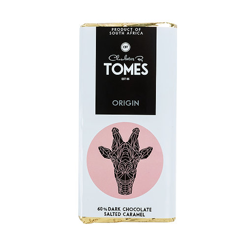 80g Tomes Safari 60% Dark Chocolate Salted Caramel