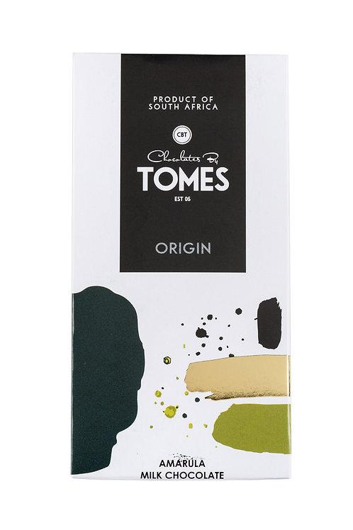 80g Tomes Origin Milk Chocolate Amarula