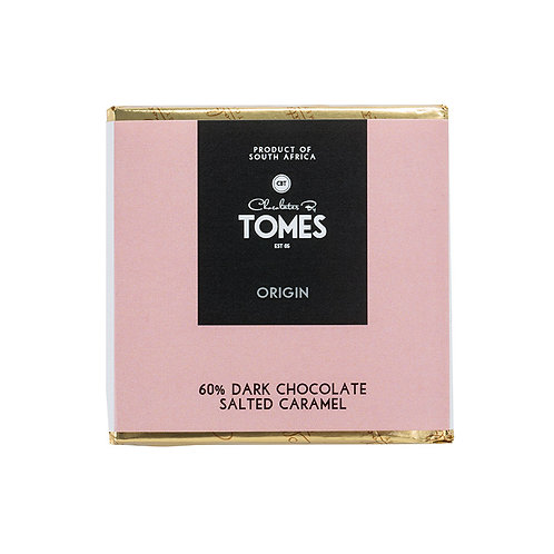 30g Tomes Origin 60% Dark Chocolate Salted Caramel