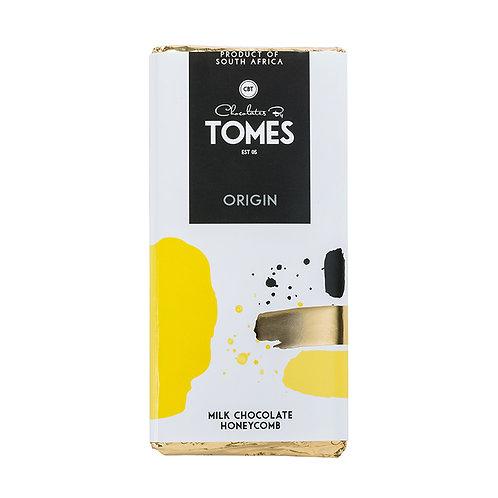 80g Tomes Origin Milk Chocolate Honeycomb