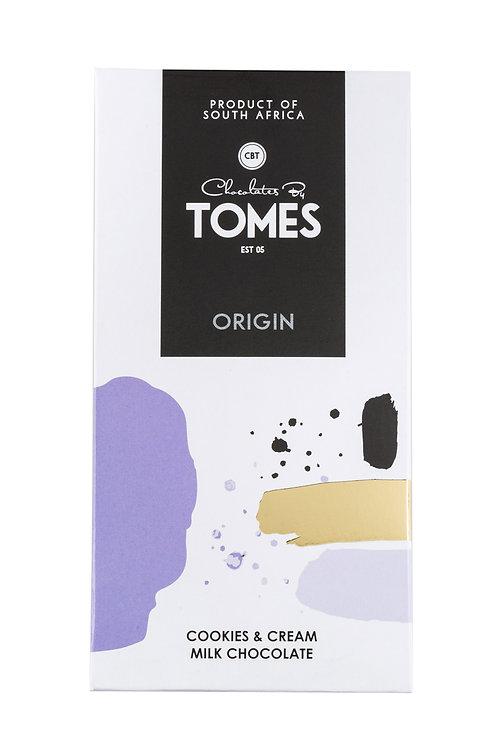 80g Tomes Origin Milk Chocolate Cookies & Cream