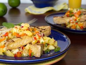 Cajun Spiced Tofu with Pineapple Salad