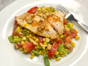 Miso Ginger Fish with Corn & Avocado Salad