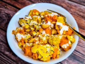 Curried Cauliflower & Kumara Salad