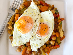 Indian Chickpeas with Fried Eggs