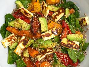 Roast Vege, Haloumi & Quinoa Salad