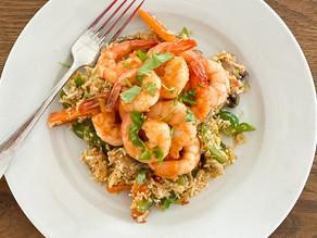 Paprika Prawns with Cauliflower Rice