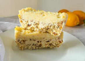Lemon & Macadamia Slice
