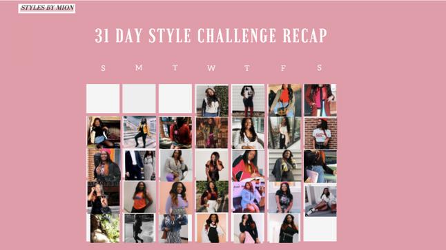 January Style Challenge Recap