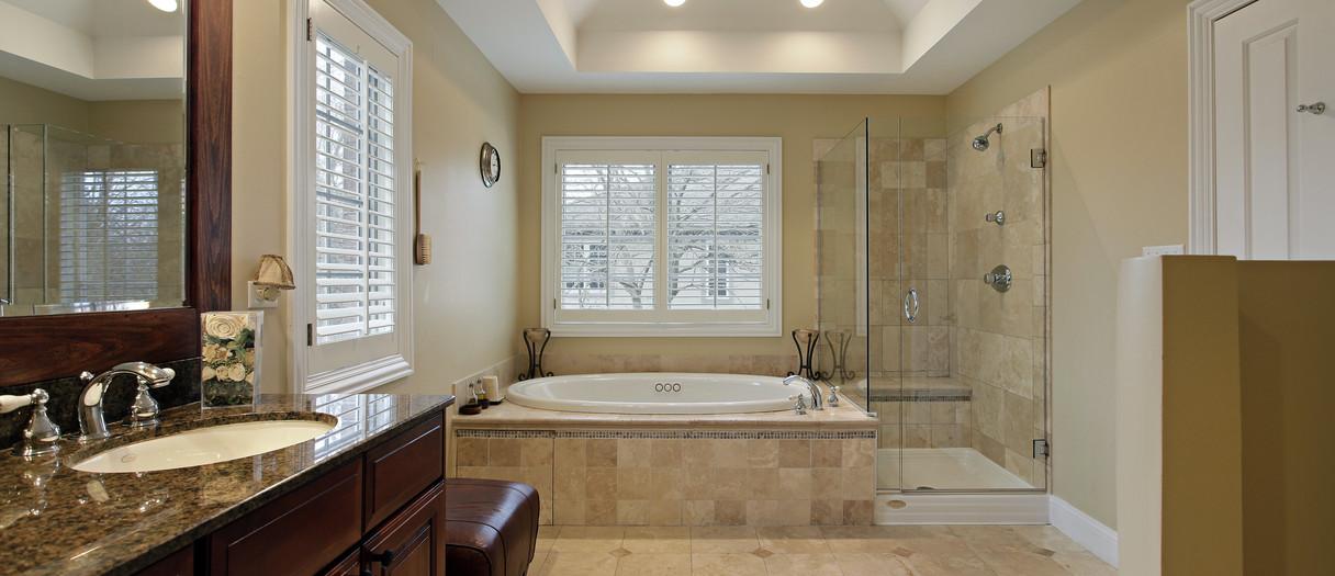 Granite Countertops in a Classic Bathroom, NYC, NY, Njcountertops.com