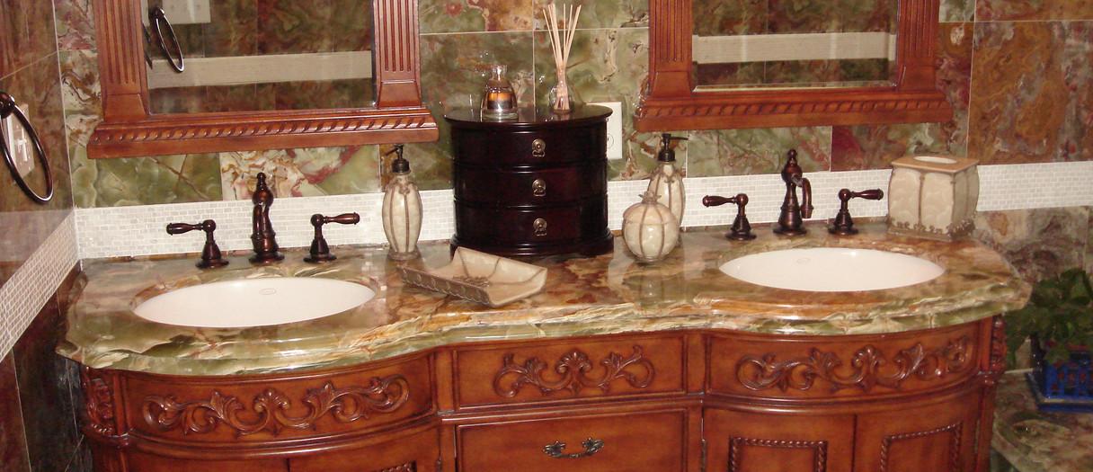 Granite Countertops in a Classic Bathroom, New Haven, CT, Njcountertops.com
