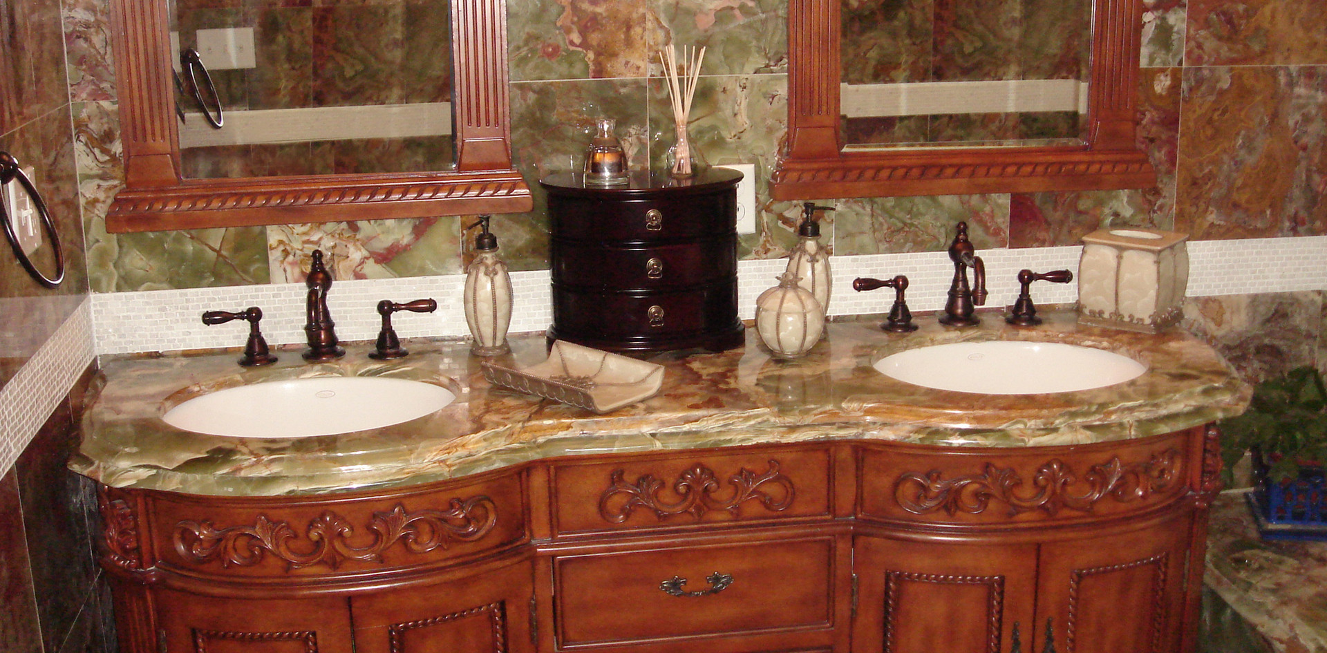 Granite Countertops in a Classic Bathroom, New Haven, CT, Njcountertops.com