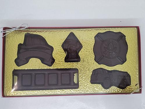 Milk or Dark Chocolate Firefighters Gift Set