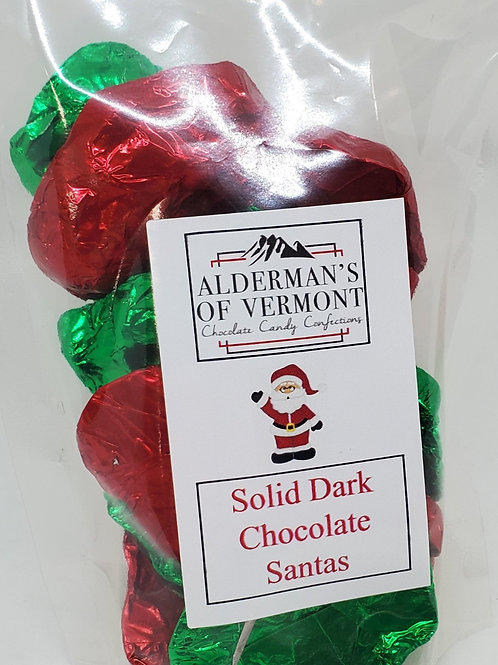 Milk or Dark Chocolate Wrapped Santa Clause