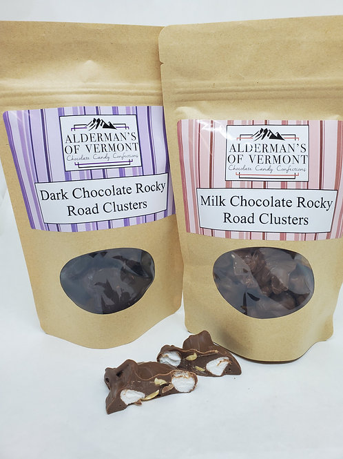Dark or Milk Chocolate Rocky Road Clusters