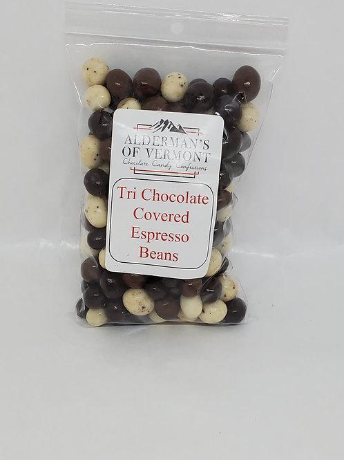 Tri Color Chocolate Covered Espresso Beans