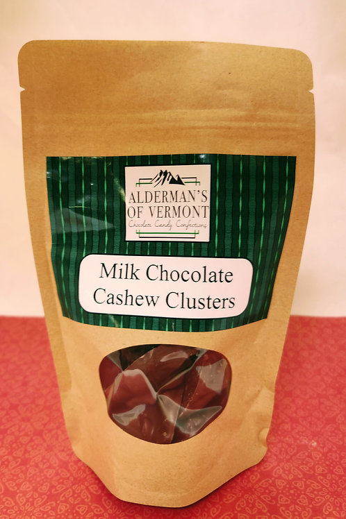 Milk Chocolate Covered Cashew Clusters