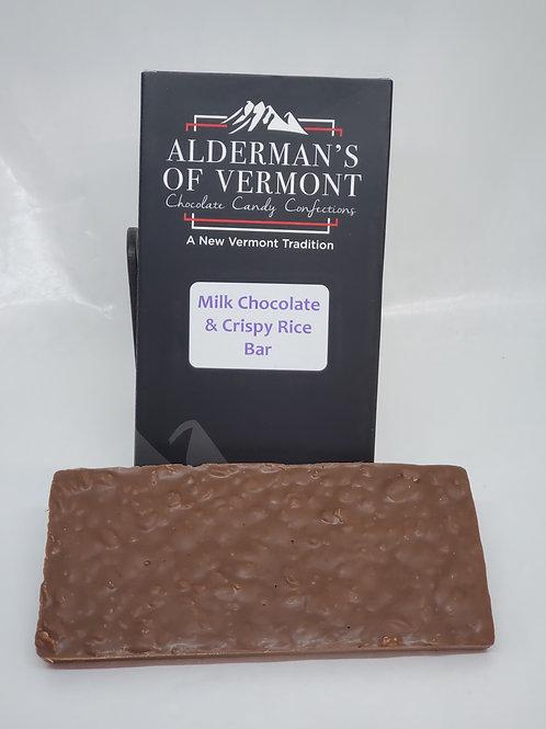 Milk Chocolate Crispy Rice Bar 4 oz