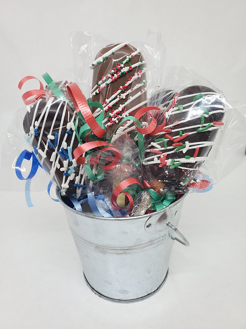 Milk or Dark Chocolate Hot Cocoa Bomb Sticks
