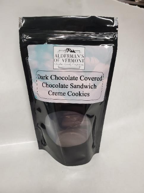 Wholesale Dark Chocolate Covered Chocolate Creme Cookies