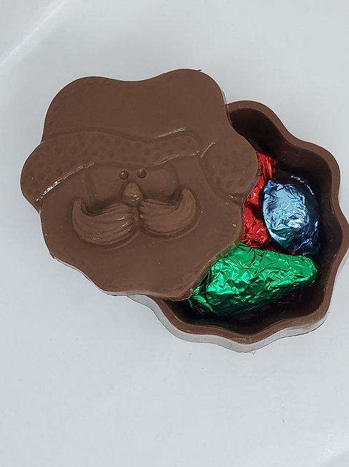 Milk or Dark Chocolate Santa Claus Box