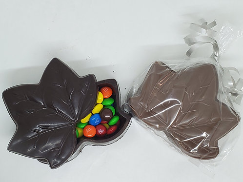 M&M or Reese's Pieces Filled Maple Leaf Box