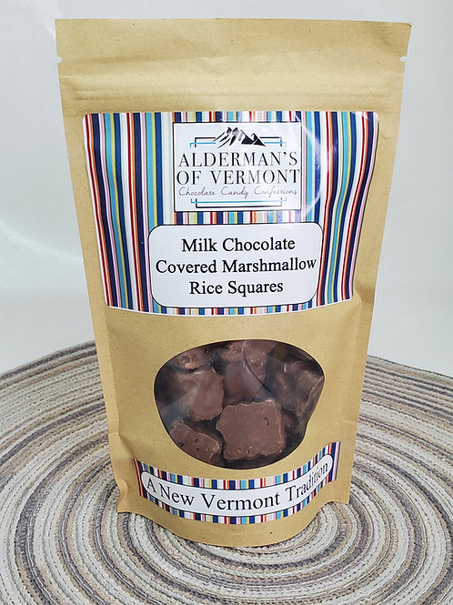 Milk Chocolate Covered Marshmallow Rice Squares