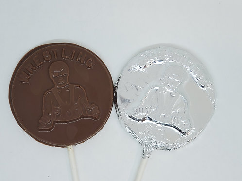 Milk or Dark Chocolate Wresting Lollipop