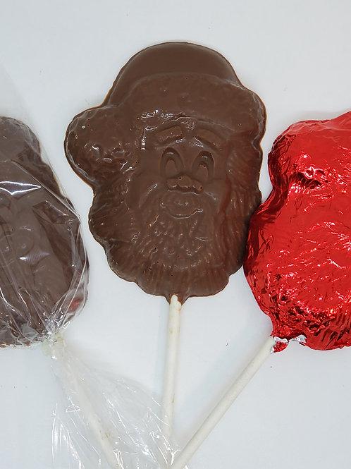 Milk or Dark Chocolate Santa Clause Lollipop