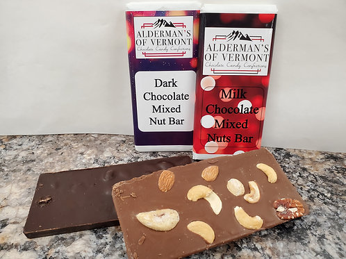 Milk or Dark Chocolate Mixed Nut Bar