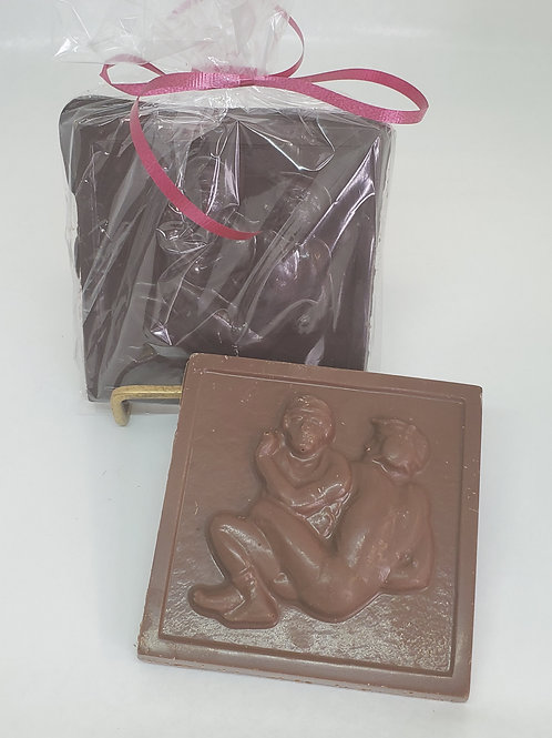 Milk or Dark Chocolate Wresting Plaque