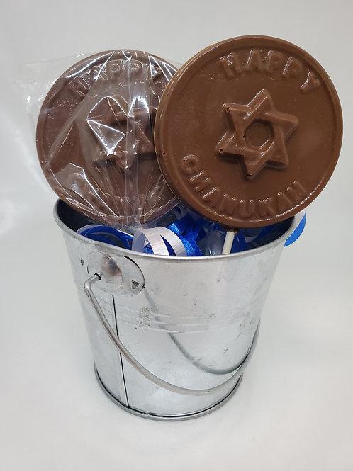 Milk or Dark Chocolate Hanukkah Chanukah Lollipop