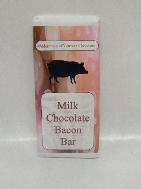 Wholesale Milk Chocolate Bacon Bar  4 oz